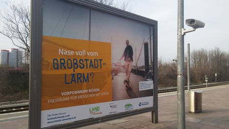 [Translate to English:] Großfächenwerbung in Berlin